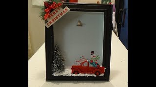 Dollar Tree DIY Red Truck Christmas Frame