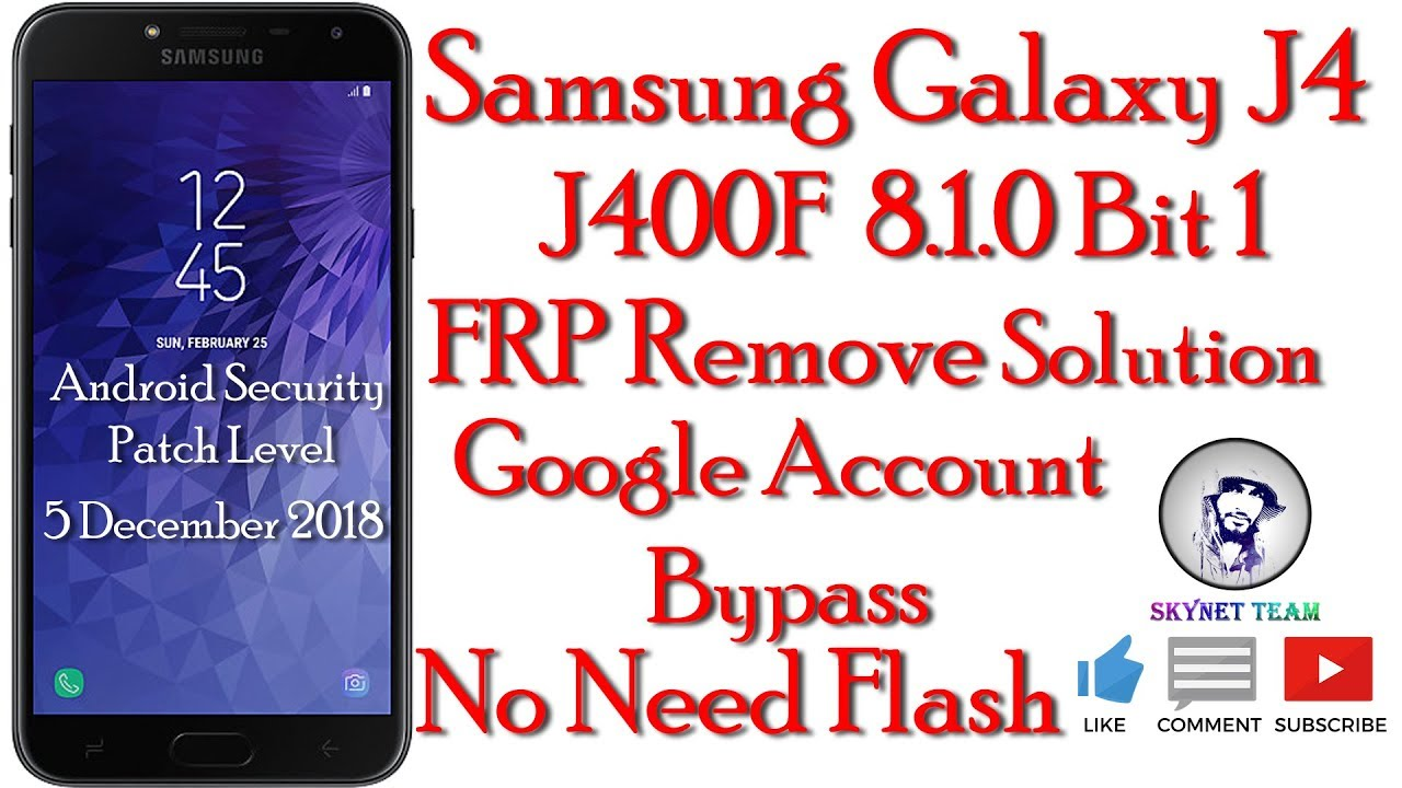 Samsung SM-J400F Android 8 1 0 Oreo Remove Google Account    FRP Bypass  Easy Way