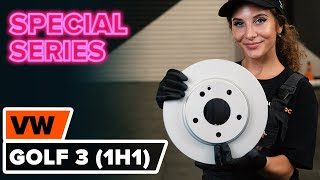 Fitting Brake rotors set VW GOLF III (1H1): free video