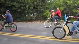 EBF (Electra Bike Forum) Group Ride Santee Lakes, October 2014---Video 1