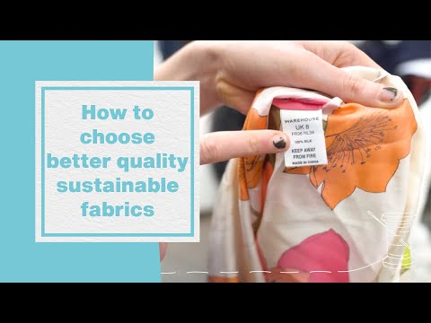How to choose better quality, sustainable fabrics I Hubbub Vlog