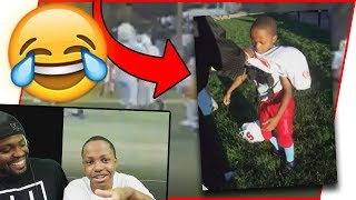 Reacting To Trent's Football Highlights!