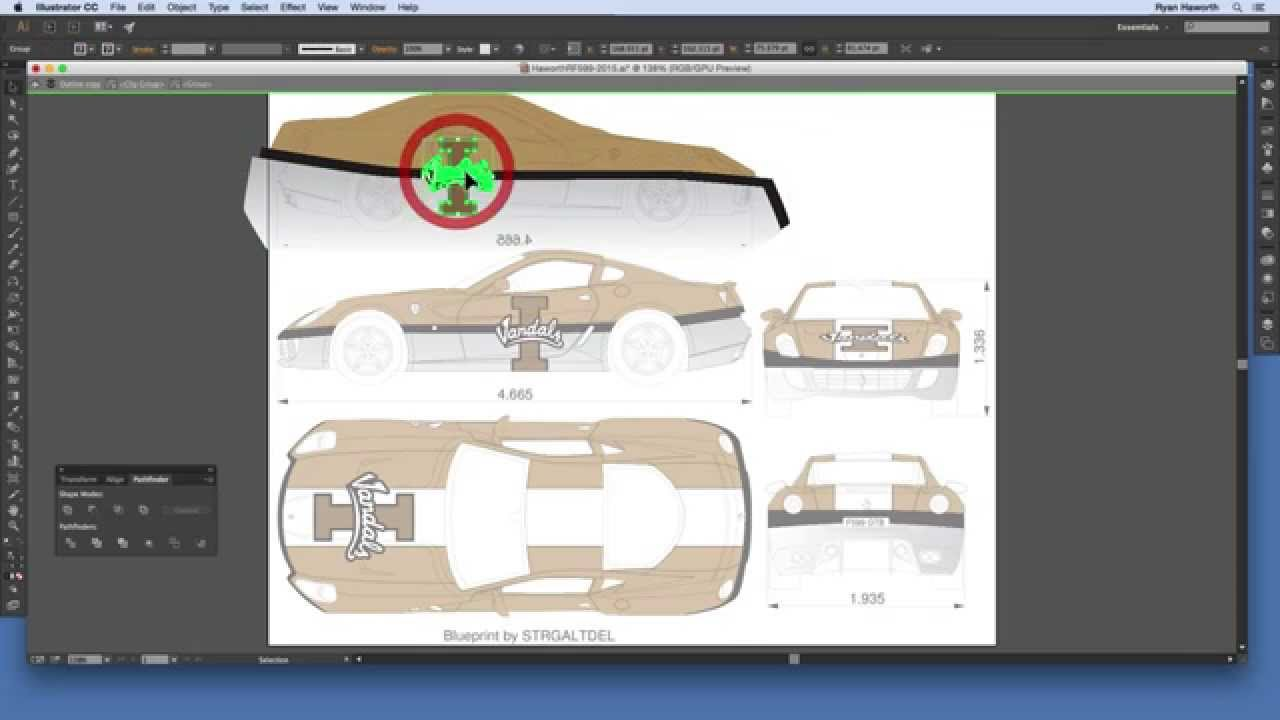 How to design a vehicle wrap in illustrator youtube malvernweather Choice Image