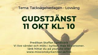 20201011 Gudstjänst i Missionskyrkan i Bor kl. 10