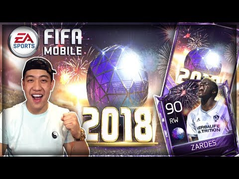 FIFA Mobile 18 NEW Year's Bundle Opening!! 90 OVR Zardes!!