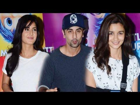Ranbir Kapoor, Katrina Kaif, Alia Bhatt @ INSIDE OUT Movie Screening