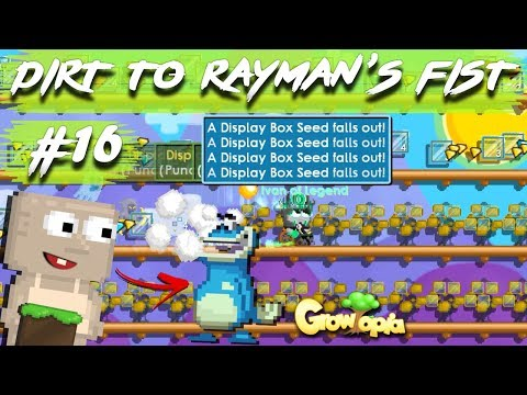 HARVESTING DISPLAY BOX TREES💕 | #16 Dirt To Rayman's Fist | Growtopia