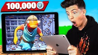 Fortnite Mobile vs PC Player in Impossible Parkour (100K VBucks Challenge)