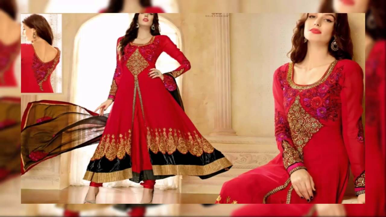 663762737b Eid Collection 2017 Heavy Work Georgette Anarkali Suits latest fashion  collection - YouTube