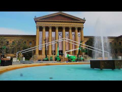 EventQuip Tent Timelapse Philadelphia Museum of Art & EventQuip Tent Timelapse Philadelphia Museum of Art - YouTube