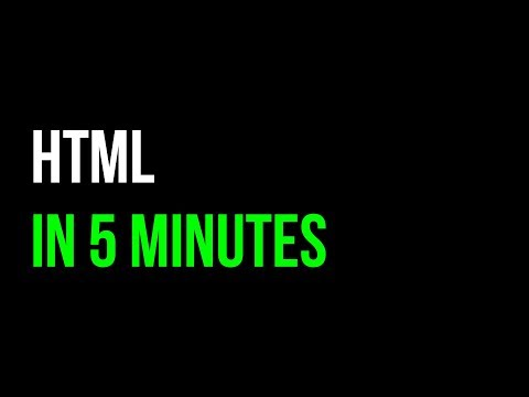 HTML In 5 Minutes | Webpage Tutorial | Code In 5