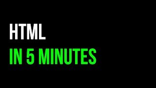 HTML in 5 minutes | Webpage Tutorial | Code in 5
