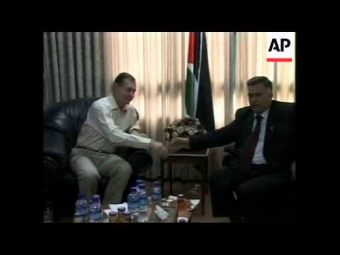 Quartet envoy Blair and US envoy arriving for meetings; Gaza protest