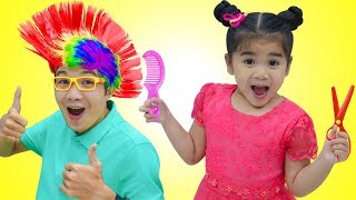 Suri Pretend Play w/ Kids Hair Salon & Fun Hair Styles Kid Toys