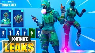 'NOUVEAU' Fuite Fortnite INSTINCT Skin, Crazy Feet Dance - All Emotes