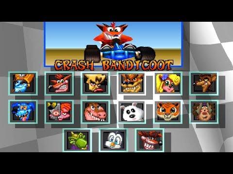 Crash Team Racing - All Characters (+ Nitros Oxide)