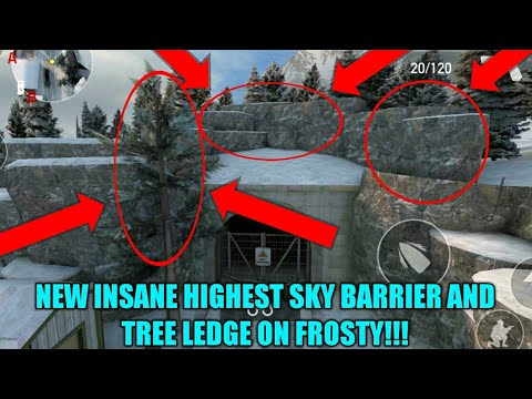 *NEW* INSANE HIGHEST SKY BARRIER AND HIGH TREE LEDGE ON FROSTY!!!