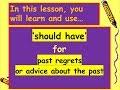 6. 'should have' Level 1 Intermediate Advanced ESOL EFL Interactive English Speaking Lesson