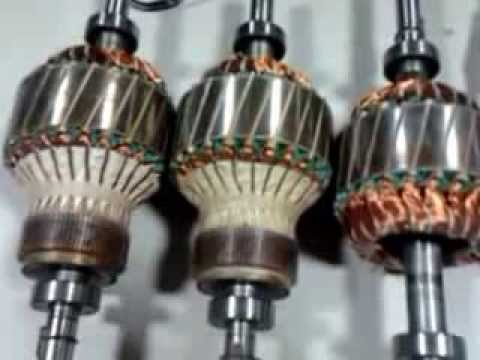 Demonstration of Wound  Squirrel Cage induction Rotors, stators