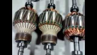 Demonstration of  Wound & Squirrel Cage induction Rotors, stators