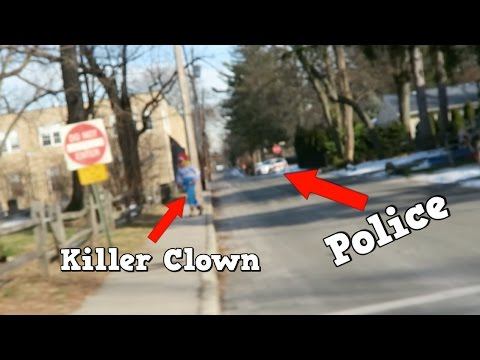 MY KILLER CLOWN CHASES ME ON A GOLF CART!! *COPS COME*