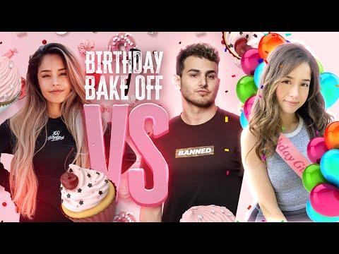 FED VS VALKYRAE BAKE FOR POKIMANE'S BIRTHDAY!