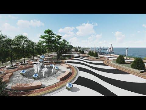 Реконструкция верхнего яруса Набережной Анапы