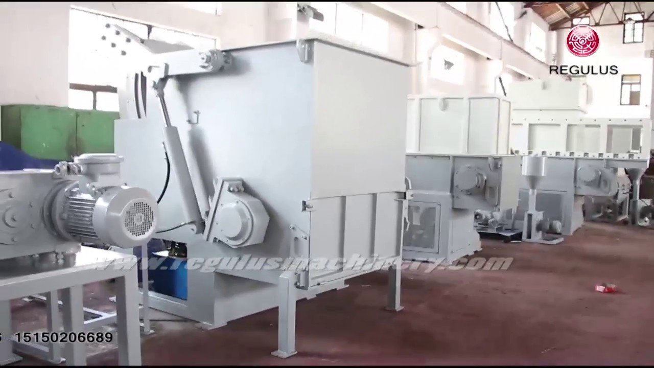 industrial plastic shredder machine