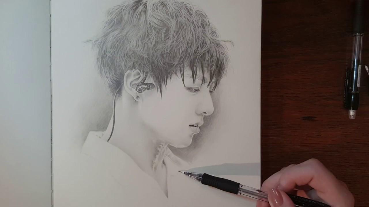 Jungkook Bts Drawings: BTS Jungkook Speed Drawing