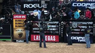Chase Outlaw PBR 2018 world finals.   Championship round