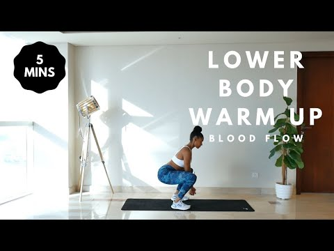 Lower Body Warm Up // 5 MIN // Modifications Included