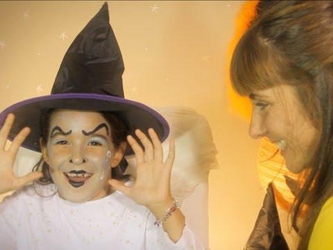 Maquillaje Para Ninas De Halloween Bruja Youtube - Maquillaje-bruja-para-nia