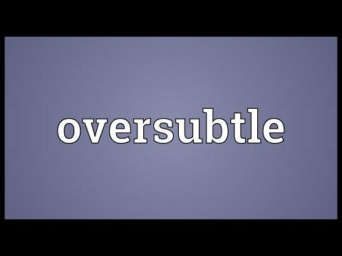 Header of oversubtle