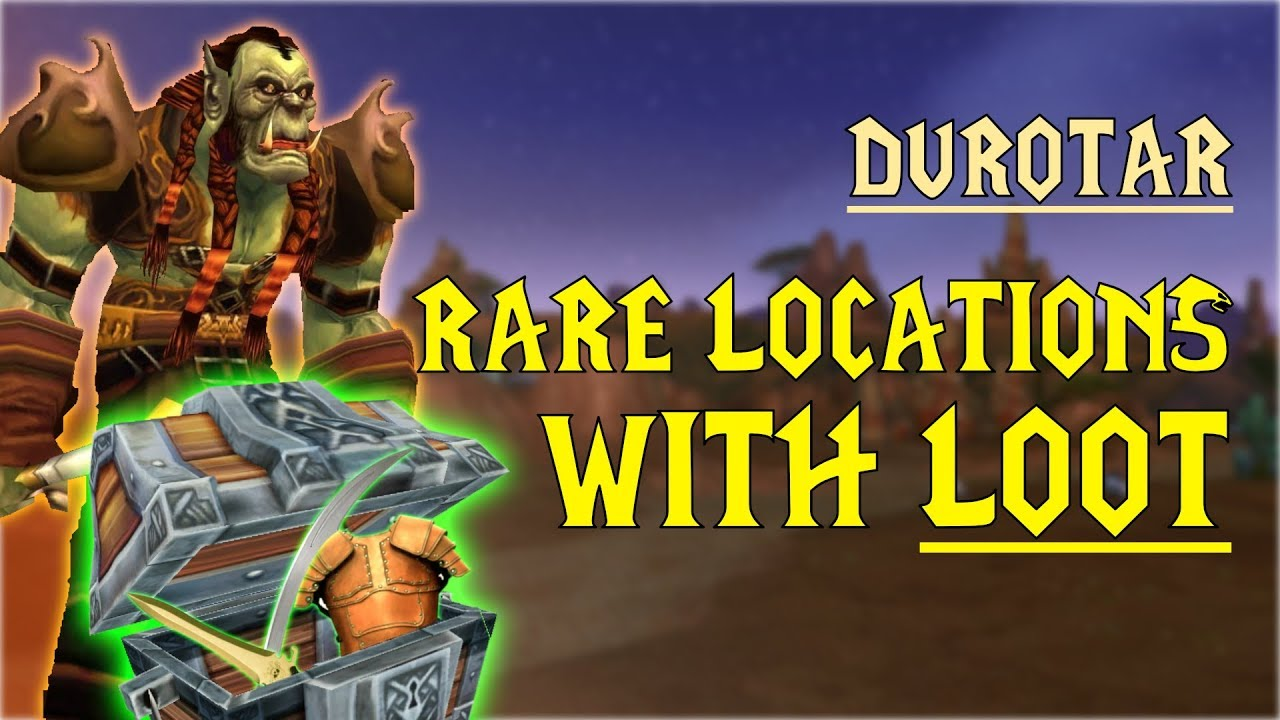 Wow Classic Rare Mob Locations Unique Loot Durotar Youtube
