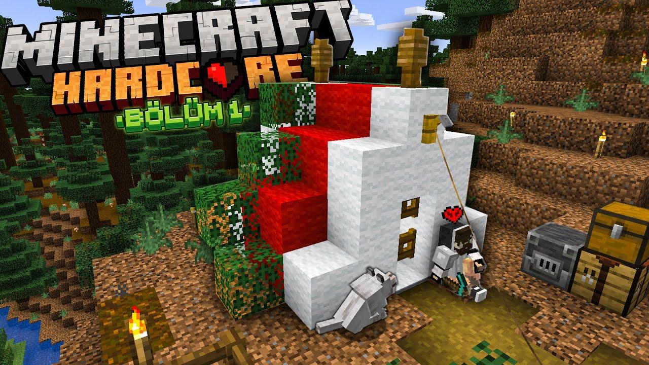 Yeni Başlangıçların Kusursuz Kampı! Minecraft Hardcore #1