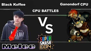 Ep9 Black Koffee(Donkey Kong) vs Level 9 CPU(Ganondorf)