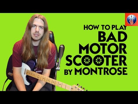 how to play bad motor scooter by montrose bad motor scooter guitar lesson youtube. Black Bedroom Furniture Sets. Home Design Ideas