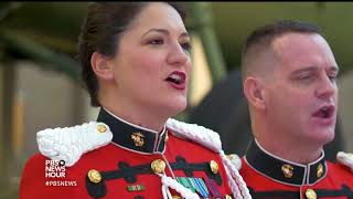Christmas is here and these military musicians are bringing good cheer