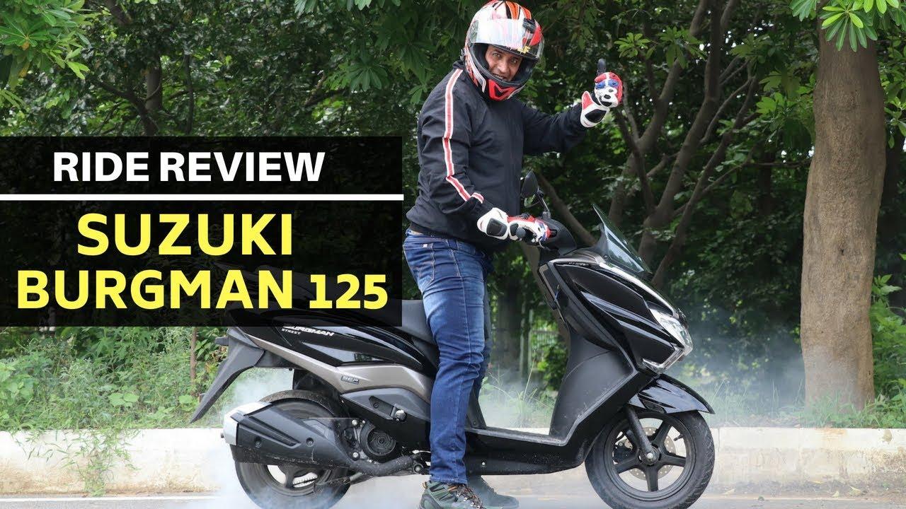 Suzuki Burgman Street 125 Scooter Road Test Review Youtube