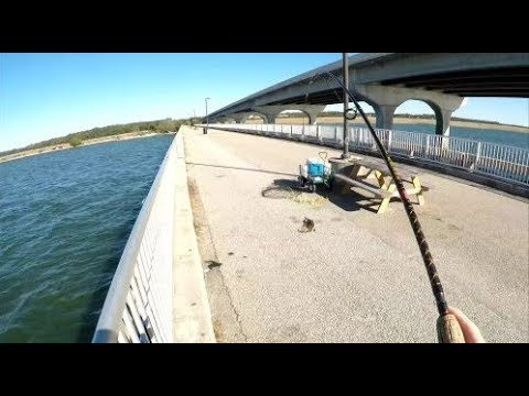 December Saltwater Fishing On The Broad River Pier In Beaufort SC