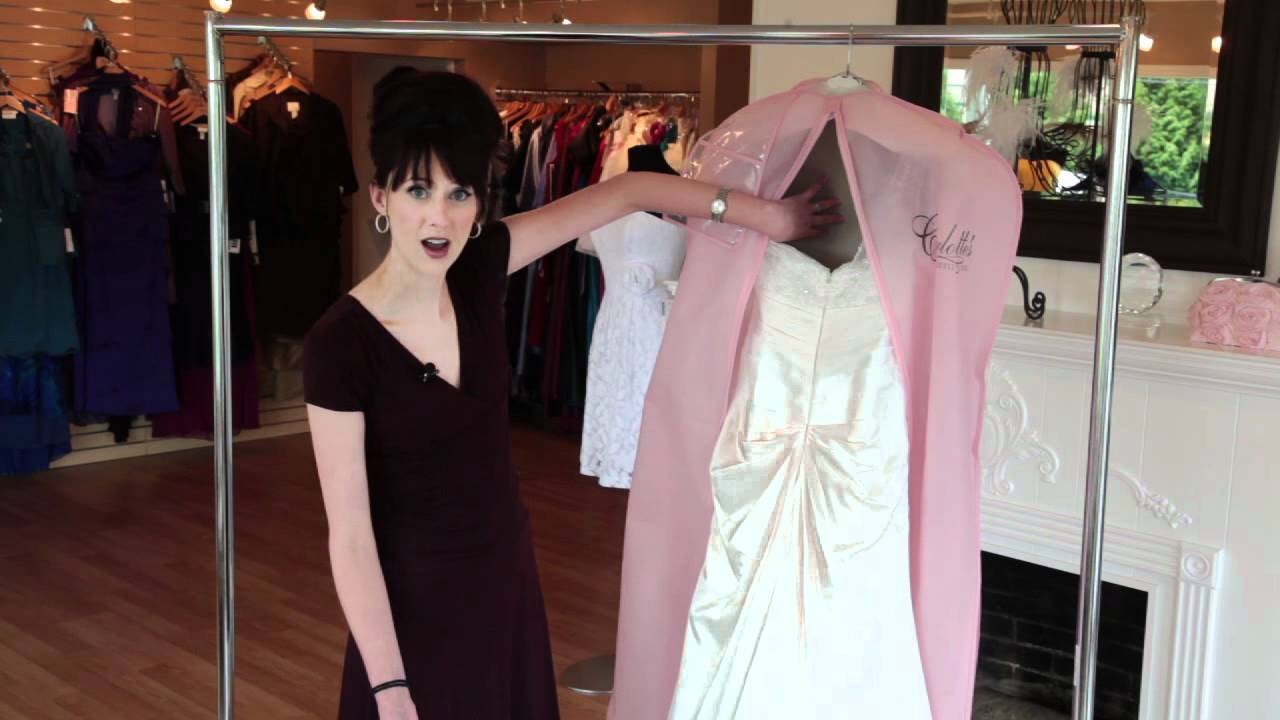 Steam and press your wedding dress - YouTube