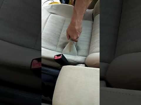Fabric seat cleaning