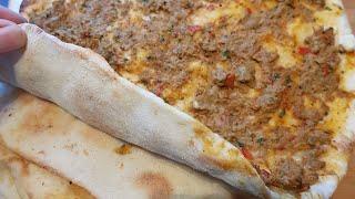 lahmajin lahmajun lahmacun...اللحم بعجين التركي اللذيذ خطوة بخطوة