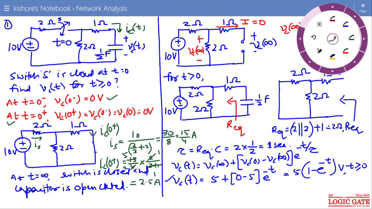 Transient Response Of First Order Rc Or Rl Circuit For Dc Excitation