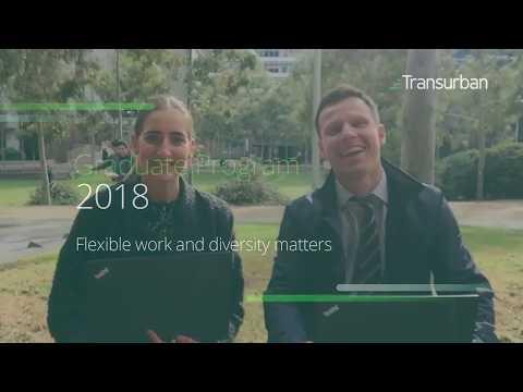 Transurban's 2018 Graduate Program – Flexible work and diversity matters
