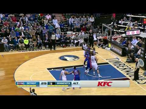 Detroit Pistons vs Minnesota Timberwolves   March 7, 2014   NBA 2013-14 Season