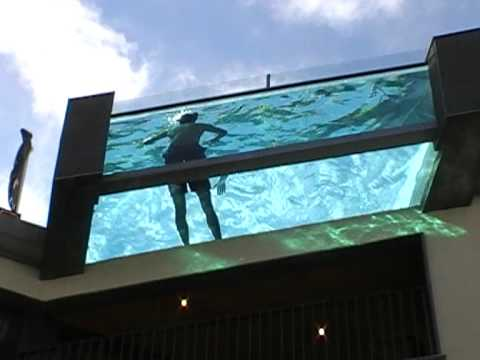 Cool Overhanging Swimming Pool On Roof In Gothenburg Sweden