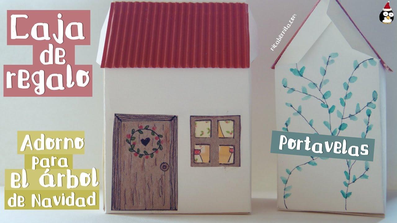 cmo hacer cajas de papel y adornos de navidad originales manualidad x con casita de papel youtube