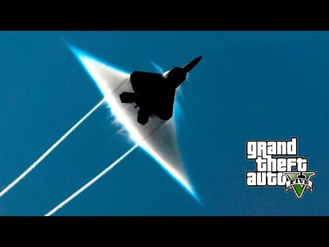 BREAKING THE SOUND BARRIER!!! GTA 5 REAL FIGHTER JETS MOD