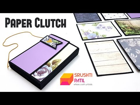 Paper Clutch Tutorial by Srushti Patil | Wardrobe Gift Box | Almirah | A Cupboard Full of Gifts